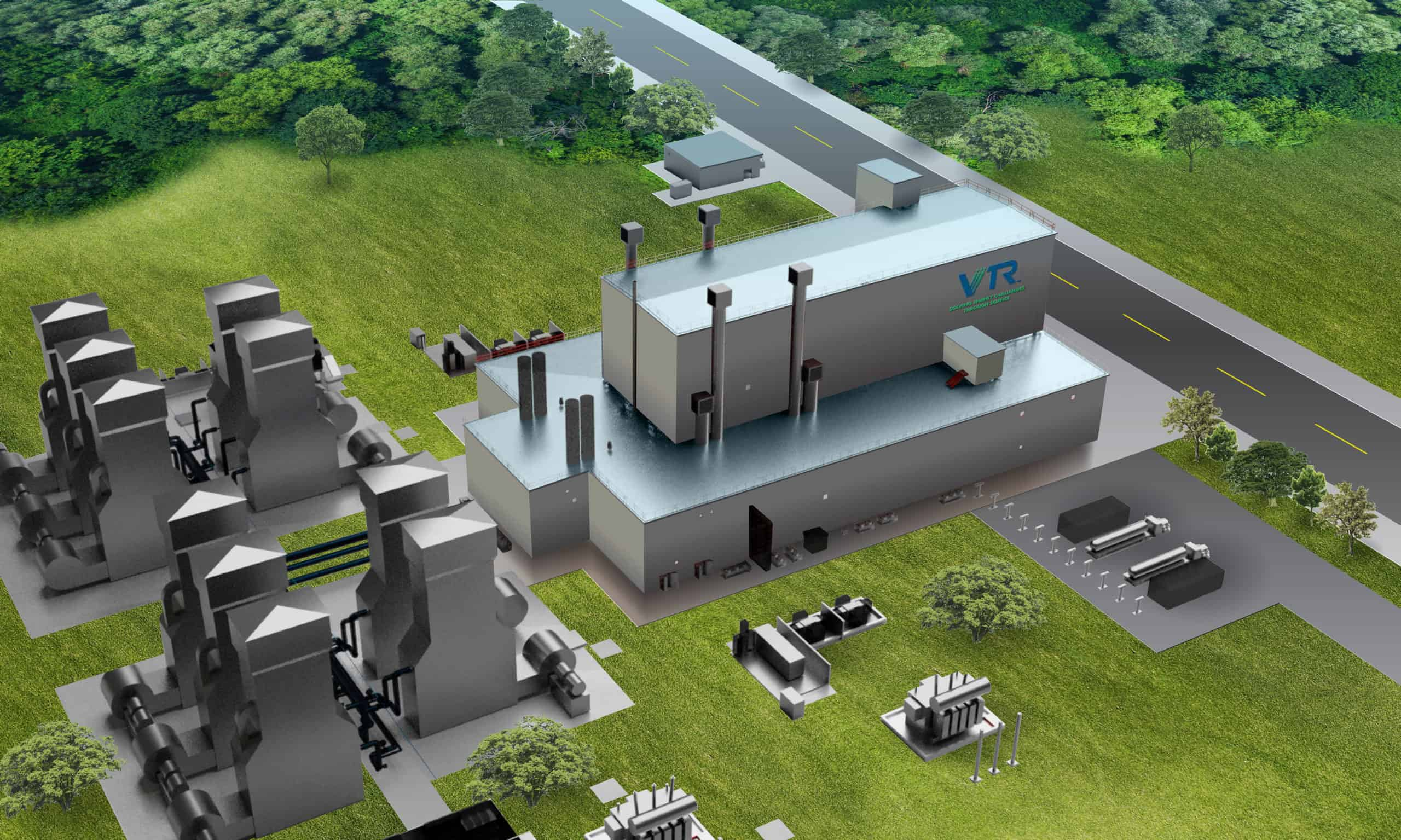 Versatile Test Reactor (VTR) facility rendering from above