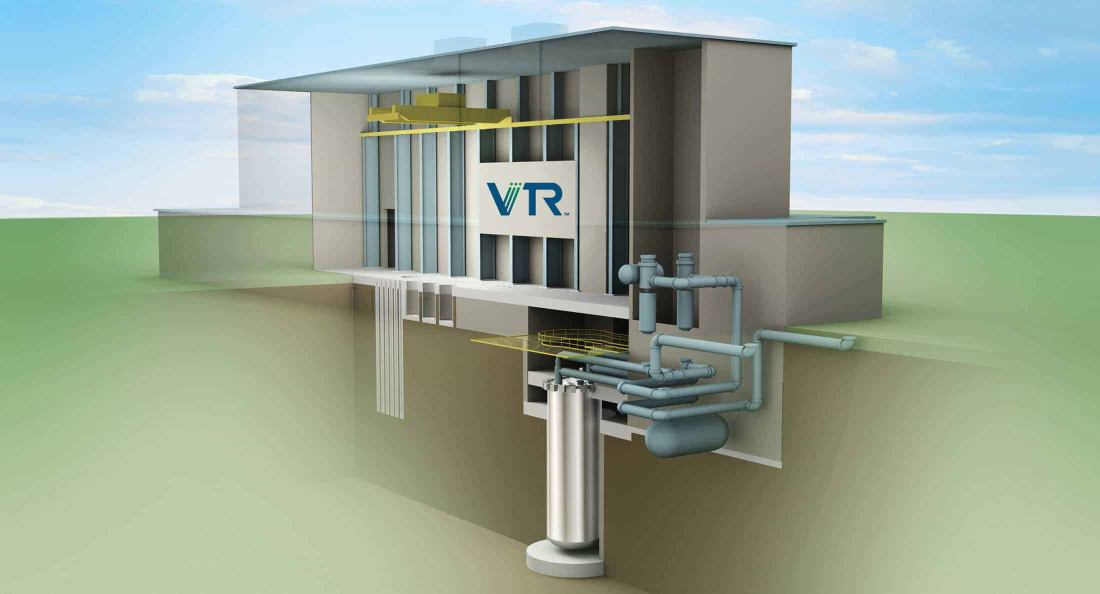 Rendering of the Versatile Test Reactor (VTR) nuclear test reactor Facility