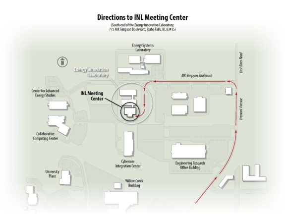 INL Meeting Center Directions Map